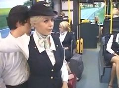 Bus, Stewardess, Tube8.com
